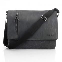 Czarna mocna torba na ramię...