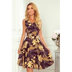 Rozkloszowana sukienka -...
