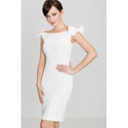 Sukienka K028 Ecru S