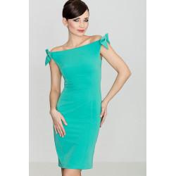 Sukienka K028 Zielony XL