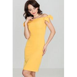 Sukienka K028 Żółty S